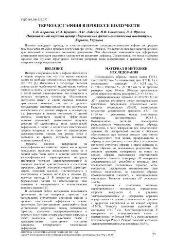 термоэдс гафния в процессе ползучести - ВАНТ - ННЦ ХФТИ