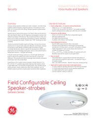 Data Sheet FX85001-0556 -- Genesis Ceiling Speaker-Strobes