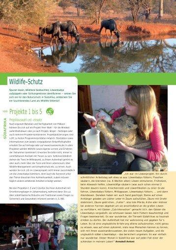 Wildlife-Schutz Projekte 1 bis 5 - STA Travel