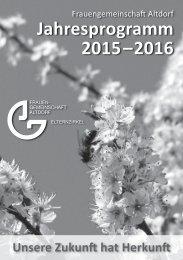 Programm 2013 / 2014 - FG Altdorf