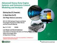 Advanced HD Engine Systems and Emissions Control Modeling and ...