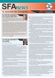 SFA news 2011 - Société française d'arthroscopie