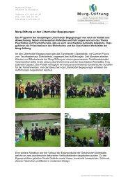 Impressionen von den Littenheider Begegnungen - Murg Stiftung