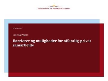 Barrierer og muligheder for offentlig-privat samarbejde - primo