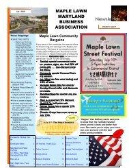 Maple Lawn Newsletter JUL-10.pub - Bozzuto Maple Lawn