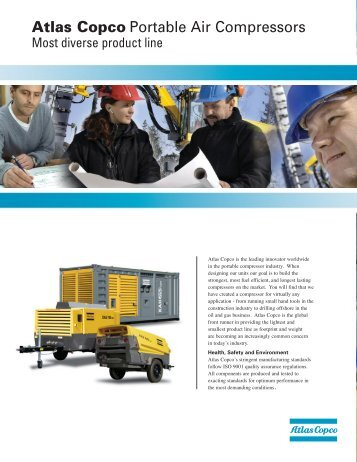 Atlas Copco Portable Air Compressors - America West Drilling Supply