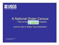 A National Water Census