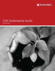 EHS Sustainability Audits updated 4-28-11.indd - SAI Global