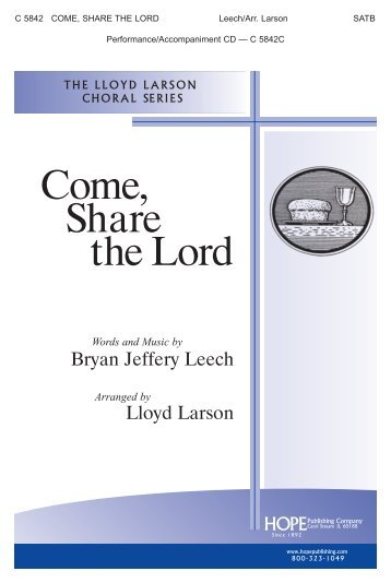 Come, Share the Lord - Hope Publishing Company