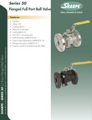 Series 50 Flanged Full Port Ball Valve - Sharpe® Valves