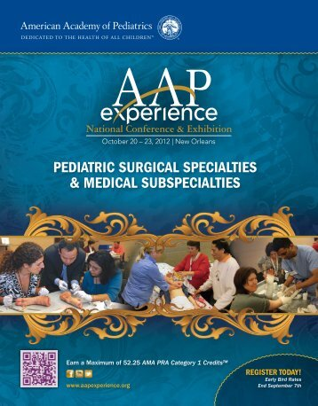 Subspecialty Brochure - American Academy of Pediatrics National ...