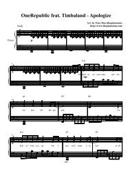 Apologize - Daily Piano Sheets