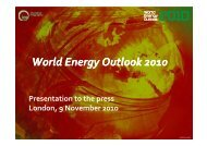 WEO 2010 Launch in London - World Energy Outlook