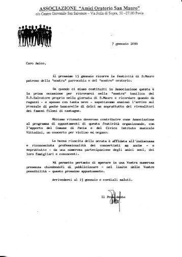 7 gennaio 2000 - amici oratorio San Mauro onlus