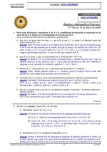 Examen 2 Parcial 31-Enero-2004