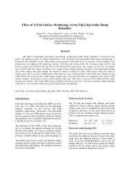 Effect of Al Pad Surface Morphology on the Flip-Chip Solder Bump ...