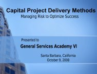 Capital Project Delivery Methods - County General Services ...