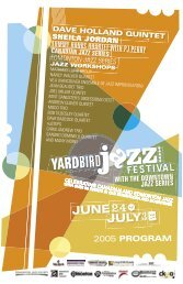 canadian jazz series - Yardbird Suite