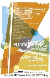 canadian jazz series - Yardbird Suite