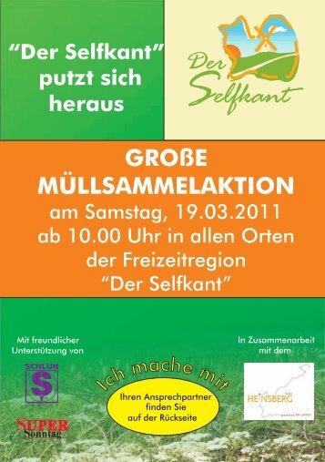 Flyer Der Selfkant putzt sich heraus 2011 - Selfkantblogger