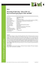 Reasoning & Querying -- State of the Art: Keyword-based ... - KiWi