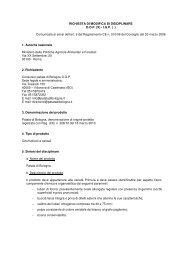 Comunicata ai sensi dell'art. 9 del Regolamento CE n. 510/06 de