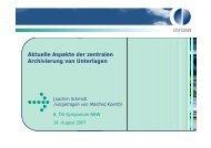 Aktuelle Aspekte der zentralen Archivierung von Unterlagen - Oev ...