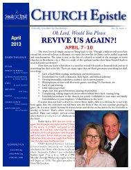 April Church Epistle - Stbt.org