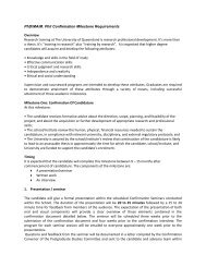 PhD/MA/M. Phil Confirmation Milestone Requirements Overview ...