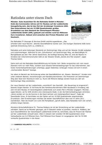 IVZ Online (PDF) - Runkel Fertigteilbau