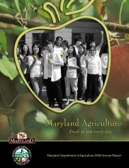 2008 MDA Annual Report - Maryland Department of Agriculture