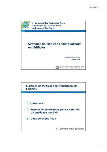 Sistemas de Medição Individualizada em Edifícios - CBCS
