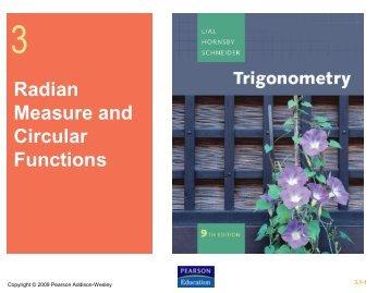 Radian Measure and Circular Functions