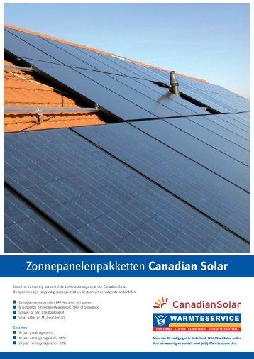 Canadian Solar - Warmteservice