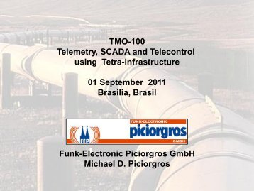 Optimising TETRA for SCADA and Telemetry - Michael Piciorgros