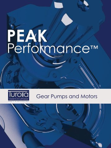 Peak Performance Gear Pumps and Motors Brochure - Turolla