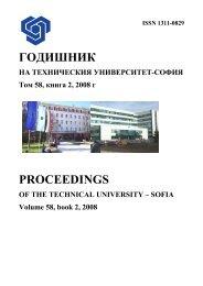 ГОДИШНИК PROCEEDINGS - Годишник на ТУ - София