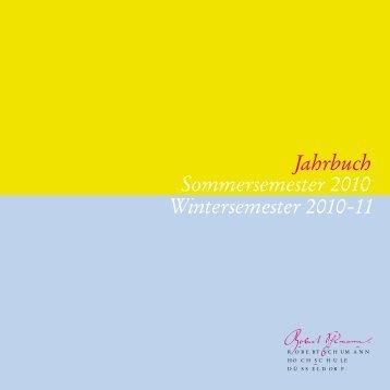 Jahrbuch 2010/2011 (pdf) - Robert Schumann Hochschule Düsseldorf