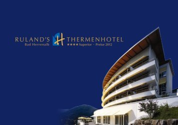 Download Hotelprospekt als PDF - Ruland´s Thermenhotel