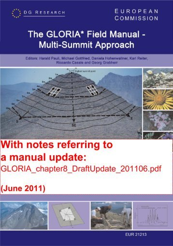 With notes referring to a manual update: - The Global Observation ...