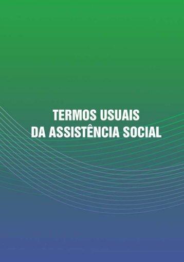 Termos Usuais da Assistência Social - Secretaria de ...