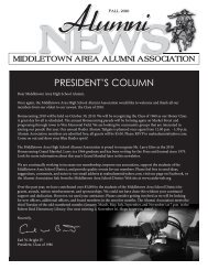 2010 Alumni Newsletter - the Middletown Area School District