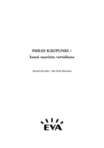 PARAS KAUPUNKI – kuusi suurinta vertailussa - Eva