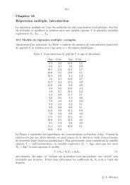 Chapitre 18 Régression multiple: introduction - IUMSP