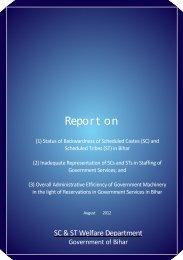 Report on - SC & ST Welfare Department, Bihar