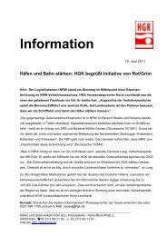 10.06.2011 – Häfen und Bahn stärken: HGK begrüßt Initiative von ...
