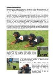 Workshop Sins März 2008 - Schweizerischer Rottweiler Hunde Club