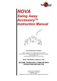 NOVA Swing Away Accessory™ Instruction Manual - Teknatool