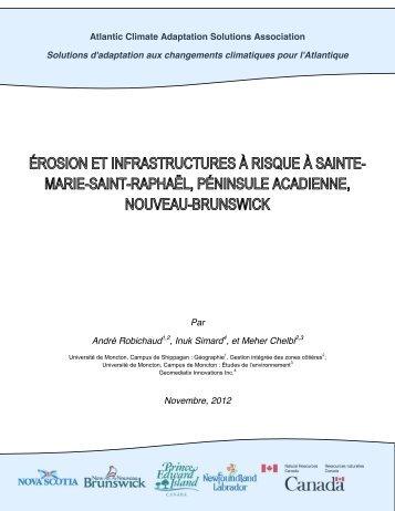 Érosion à Sainte-Marie Saint Raphael - Atlantic Climate Adaptation ...