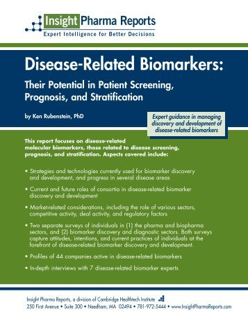 Disease-Related Biomarkers - Insight Pharma Reports